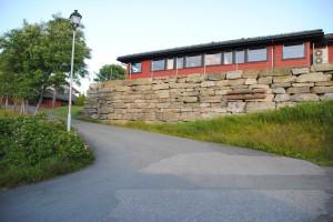 Mur ved Sannidal Ungdomsskole